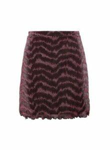 Womens Lola Skye Pink Glitter Mini Skirt, Pink
