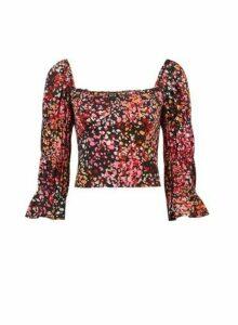 Womens **Lola Skye Pink Printed Bustier Top, Pink