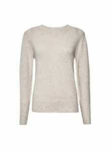 Womens Pink All Over Sequin Jumper, Pink