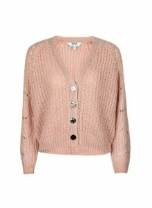 Womens Petite Blush Stitch Cardigan- Pink, Pink