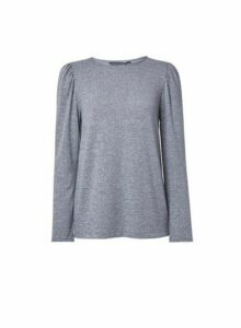 Womens **Tall Grey 2-In-1 Cut And Sew Top, Grey
