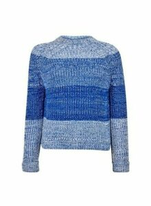 Womens **Tall Blue Ombre Jumper, Blue