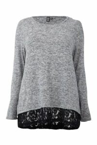 Curve Lace Trim Jumper