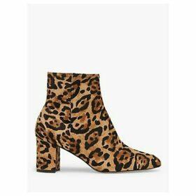 L.K.Bennett Jette Leopard Print Calf Hair Ankle Boots, Natural