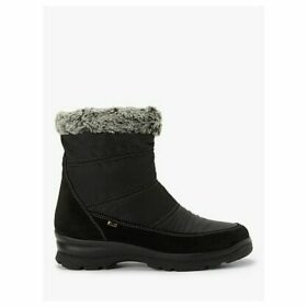 John Lewis & Partners Patrice Water Resistant Quilted Walking Boots, Black