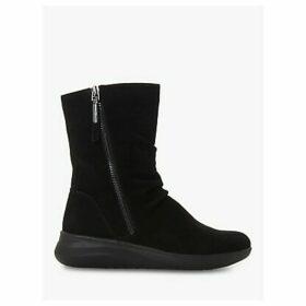 Dune Relax Easy Comfort Calf Boots, Black
