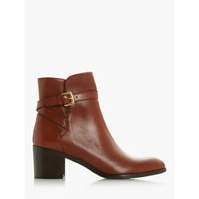 Dune Pacey Leather Block Heel Ankle Boots