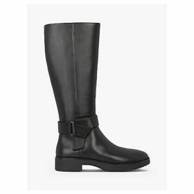 FitFlop Knot Leather Calf Boots, Black