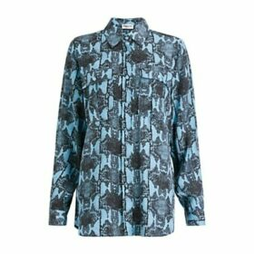 Essentiel Antwerp Tricera Snake Print Shirt, Reef Water