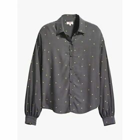 Levi's Margot Scattered Dots Blouse, Forged Iron