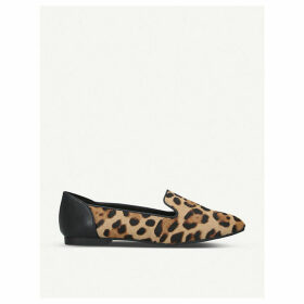 Kappa leopard-print leather loafers
