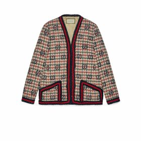 GG check tweed jacket