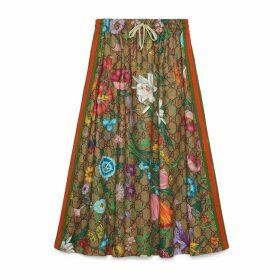GG Flora print jersey skirt