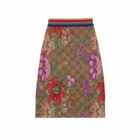 GG Flora wool jacquard skirt