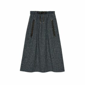 Square G wool skirt