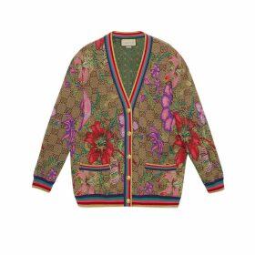 GG Flora wool jacquard cardigan