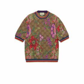 GG Flora wool jacquard top