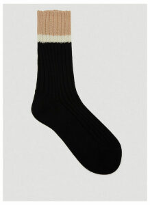 Prada Intarsia Knit Socks in Black size 2
