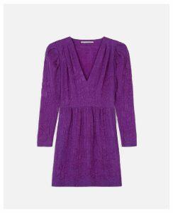 Stella McCartney Purple Jaycee Dress, Women's, Size 10