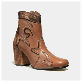 Coach Western Bootie With Burnish