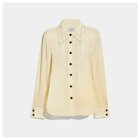 Coach Ruffle Detail Shirt