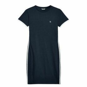 Jack Wills Goodrington Side Stripe Ringer Dress - Navy