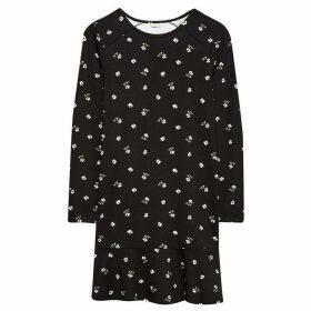 Jack Wills Linford Floral Jersey Dress - Black
