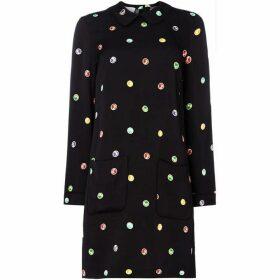 Escada Long sleeve embellished shift dress - Black