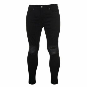 Jaded London Super Skinny Jeans - Black Ripped