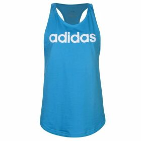 adidas Linear Tank Top Ladies - Cyan Blue