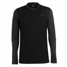 adidas Freelift Long Sleeve T Shirt Mens - Black