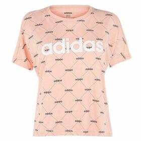 adidas Fave T Shirt Ladies - Glow Pink
