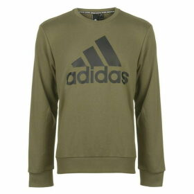 adidas BOS Crew Sweatshirt Mens - Raw Khaki/Black