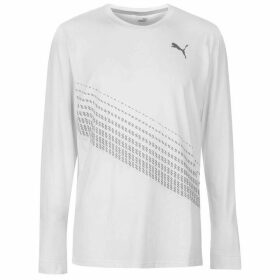 Puma Desert Long Sleeve T Shirt Mens - White