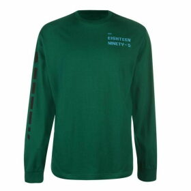 Reebok Meet You There Long Sleeve T Shirt Mens - Clover Green