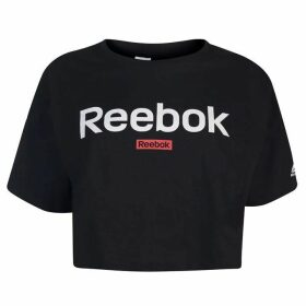 Reebok Linear Crop Top Ladies - Black