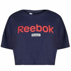Reebok Linear Crop Top Ladies - Heritage Navy