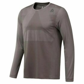 Reebok Therma Vent Long Sleeve T Shirt Mens - Medium Grey