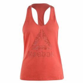 Reebok Logo Tank Top Ladies - Fire Coral
