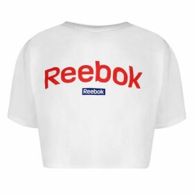 Reebok Linear Crop Top Ladies - White