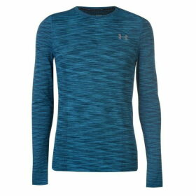 Under Armour Threadborne Long Sleeve Seamless T Shirt Mens - Blue
