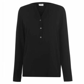 JDY Track Long Sleeve Blouse - Black