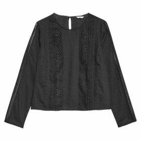 Jack Wills Marygold Lace Top - Black