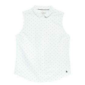 Jack Wills Averton Oxford Classic Sleeveless Shirt - White