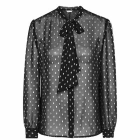 Jack Wills Bibury Metallic Blouse - Black