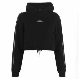 Fabric Boxy OTH Hoodie Ladies - Black