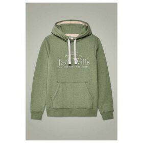 Jack Wills Hunston Embroidered Graphic Hoodie - Green