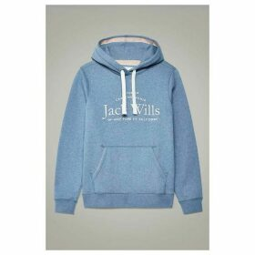 Jack Wills Hunston Embroidered Graphic Hoodie - Blue
