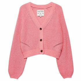 Jack Wills Cinderford Fisherman Rib Cardigan - Pink