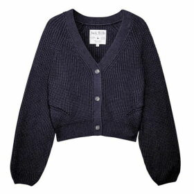 Jack Wills Cinderford Fisherman Rib Cardigan - Blue